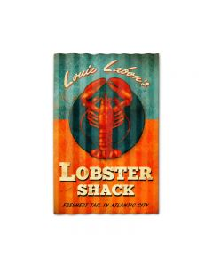 Lobster Shack Corrugated, Home and Garden, Corrugated Rustic Barn Wood Sign, 16 X 24 Inches