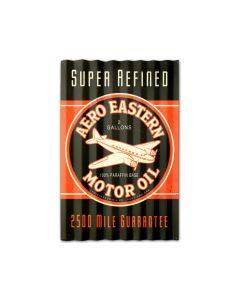 Aero Eastern Motor Oil Corrugated, Automotive, Corrugated Rustic Barn Wood Sign, 16 X 24 Inches