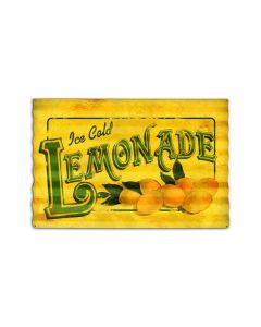 Lemonade Corrugated, Food and Drink, Corrugated Rustic Barn Wood Sign, 24 X 16 Inches