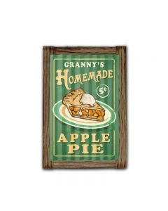 Home Made Pies Corrugated Framed, Food and Drink, Corrugated Rustic Barn Wood Sign, 16 X 24 Inches