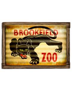 PANTHER ZOO POSTER, CORRUGATED, CORRUGATED, 24 X 21 Inches