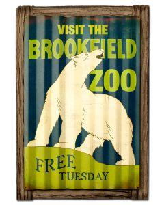 BROOKFIELD ZOO BEAR, CORRUGATED, CORRUGATED, 24 X 21 Inches