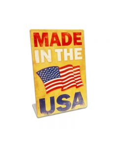 Made In The USA Topper, Patriotic, Table Topper, 6 X 9 Inches