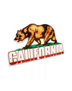 California Bear Topper, Travel, Table Topper, 11 X 7 Inches
