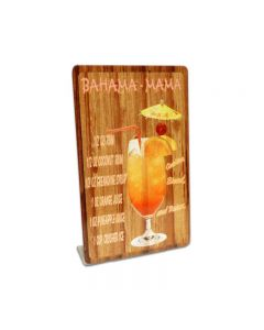 Bahama Mama Topper, Bar and Alcohol, Table Topper, 4 X 6 Inches