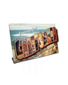 California Landmarks Topper, Travel, Table Topper, 9 X 6 Inches