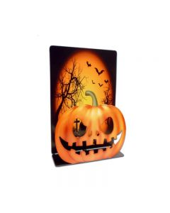 Halloween Pumpkin 3D Topper, Home and Garden, Table Topper, 7 X 9 Inches