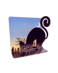 Black Cat 3D Topper, Home and Garden, Table Topper, 7 X 7 Inches