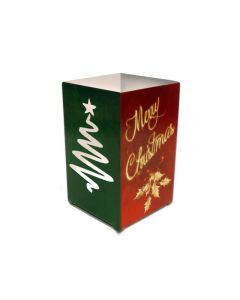 Christmas Candle Cube Topper, Home and Garden, Table Topper, 3 X 5 Inches