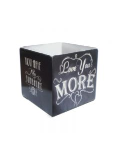 Love You More Cube Topper, Home and Garden, Table Topper, 3 X 5 Inches
