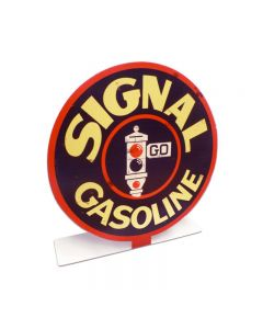 Signal Gasoline Topper, Automotive, Table Topper, 8 X 8 Inches