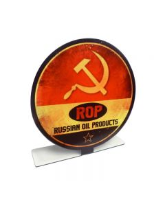ROP Russian Oil Products Topper, Automotive, Table Topper, 8 X 8 Inches