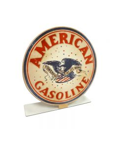 American Gasoline Topper, Automotive, Table Topper, 8 X 8 Inches