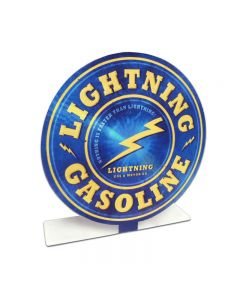 Lightening Gas Topper, Automotive, Table Topper, 8 X 8 Inches