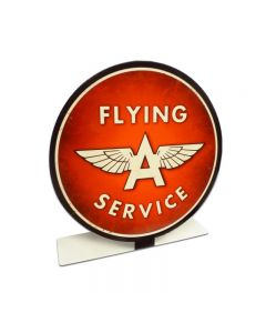 Flying A Service Topper, Automotive, Table Topper, 8 X 8 Inches