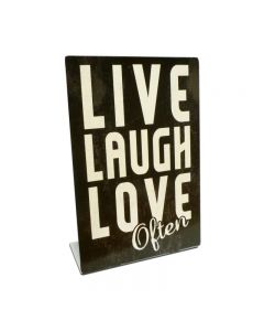 Live Laugh Love Topper, Automotive, Table Topper, 6 X 9 Inches