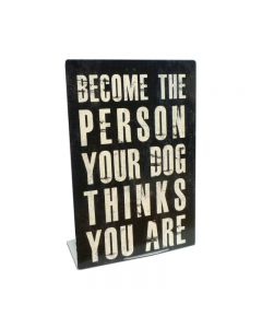 Person Your Dog Topper, Automotive, Table Topper, 6 X 9 Inches