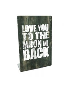 Love You To The Moon, Home and Garden, Table Topper, 6 X 9 Inches