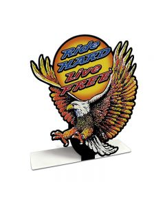 Ride Hard Live Free Eagle, Motorcycle, Table Topper, 8 X 8 Inches