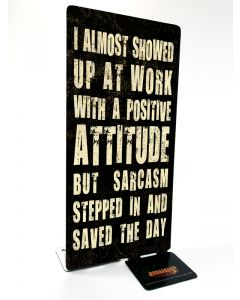 Sarcasm, Table Toppers, Table Topper, 4 X 9 Inches