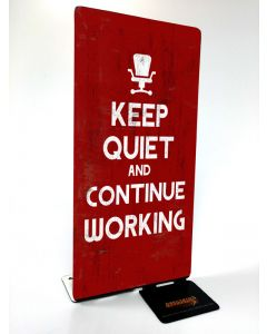 Keep Quiet, Table Toppers, Table Topper, 4 X 9 Inches