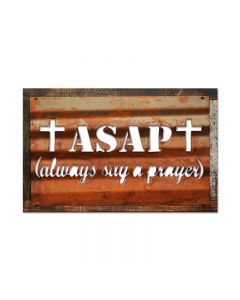 ASPA, Home and Garden, Corrugated Rustic Barn Wood Sign, 19 X 26 Inches