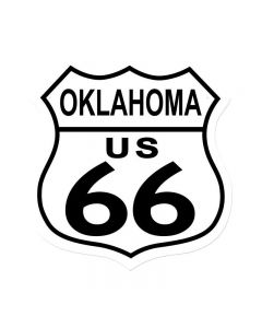 Route 66 Oaklahoma, Street Signs, Shield Metal Sign, 15 X 15 Inches