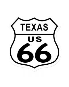Route 66 Texas, Street Signs, Shield Metal Sign, 15 X 15 Inches