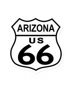 Route 66 Arizona, Street Signs, Shield Metal Sign, 15 X 15 Inches