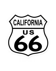 Route 66 California, Street Signs, Shield Metal Sign, 15 X 15 Inches