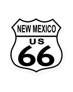 Route 66 New Mexico, Street Signs, Shield Metal Sign, 15 X 15 Inches