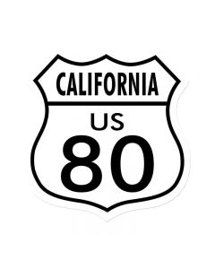 Route 80 California, Street Signs, Shield Metal Sign, 15 X 15 Inches
