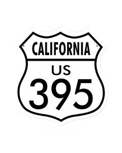 California 395, Street Signs, Shield Metal Sign, 15 X 15 Inches