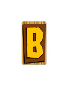 Tiki Letter B, Home and Garden, Metal Sign, 8 X 14 Inches