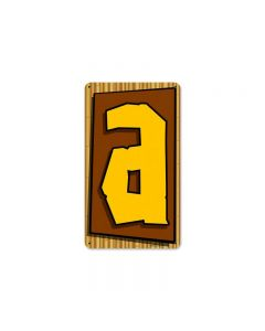 Tiki Letter A, Home and Garden, Metal Sign, 8 X 14 Inches