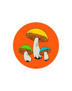 Mushrooms, Other, Round Metal Sign, 14 X 14 Inches