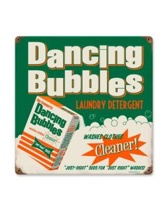 Dancing Bubbles, Home and Garden, Metal Sign, 12 X 12 Inches