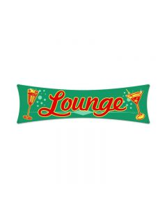 Lounge Bowtie, Food and Drink, Bowtie Metal Sign, 6 X 22 Inches