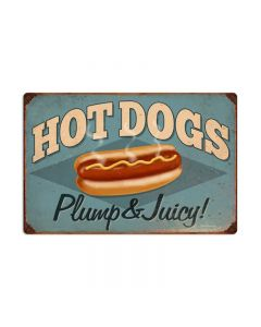 Hot Dogs, Food and Drink, Vintage Metal Sign, 24 X 16 Inches