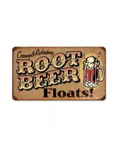 Root Beer Floats, Food and Drink, Vintage Metal Sign, 8 X 14 Inches