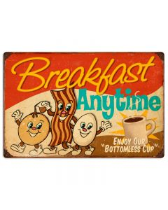 Breakfast, Food and Drink, Vintage Metal Sign, 24 X 16 Inches