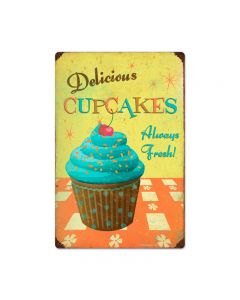 Cupcake Delicious, Food and Drink, Vintage Metal Sign, 16 X 24 Inches