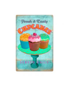 Cupcake Fresh, Food and Drink, Vintage Metal Sign, 16 X 24 Inches