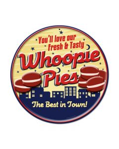 Whoopie Pies, Food and Drink, Round Metal Sign, 14 X 14 Inches