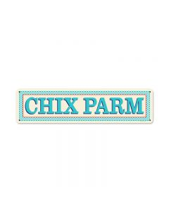 Blue Chix Parm, Food and Drink, Vintage Metal Sign, 20 X 5 Inches