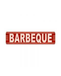 Barbeque, Food and Drink, Metal Sign, 20 X 5 Inches