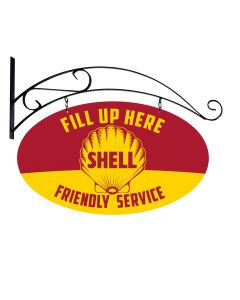 Fill Up Here Friendly Service Shell, Featured Artists/Shell, Plasma, 20 X 17 Inches