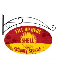 Fill Up Here Friendly Service Shell Grunge, Featured Artists/Shell, Plasma, 20 X 17 Inches