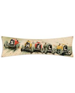 Shell Race Cars, Featured Artists/Shell, Bowtie, 27 X 8 Inches