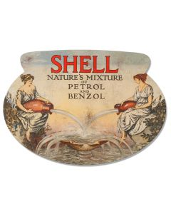 Natures Mixture Grunge Deluxe, Featured Artists/Shell, Oval, 15 X 22 Inches